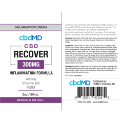 CBD Recover Inflammation Formula 2oz Squeeze (300mg)