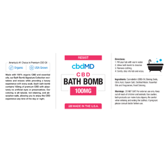 CBD Bath Bomb - Resist