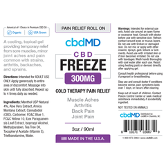 CBD Freeze 3oz Roller 300 mg