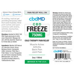 CBD Freeze 3oz Roller 750 mg