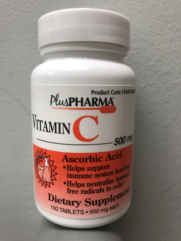 Vitamin C 500 mg (100 ct) tablets