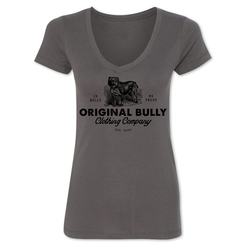 Vintage Bulldog Ladies V-Neck Tee