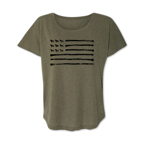 Patriot Ladies Flowy Tee