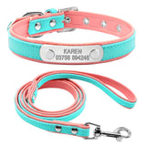 Combo Pink engraved Custom Collar and Lead