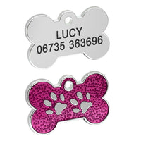 Personalized Glitter Dog Tags