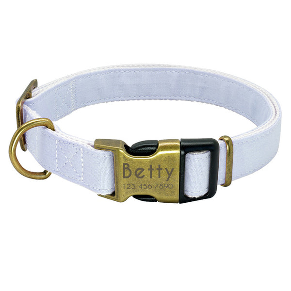 Pastel Personalized Custom Engraved Dog Collar