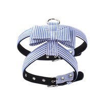 Pet Dog Collar Harnesses Soft Suede Fabric Fashion Stripe Leather Dog Harness Leash For Small Dog Puppy Cat Chihuahua Collar