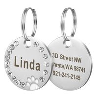 Shiny amd stainless ID Tags