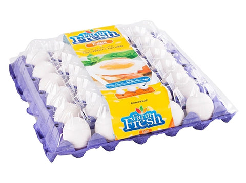 Farm Fresh White Eggs 30pcs