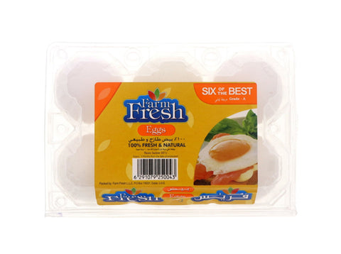Farm Fresh White Eggs 6pcs