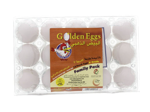 Golden Eggs White 15pcs