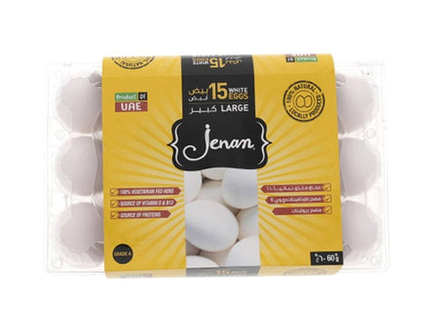 Jenan White Eggs 15pcs
