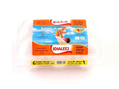 Khaleej White Eggs 6pcs