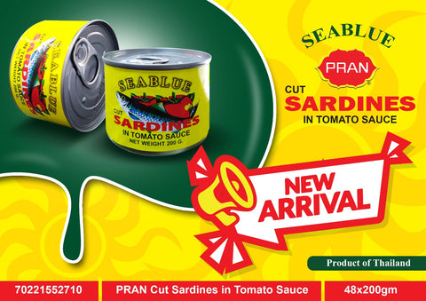 PRAN Cut Sardines in Tomato Sauce 200 mg