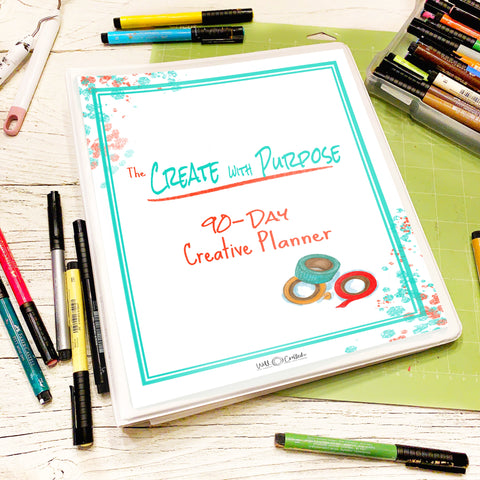 create with purpose 90 day planner cover
