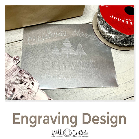 Christmas Morning Coffee Engraving Design