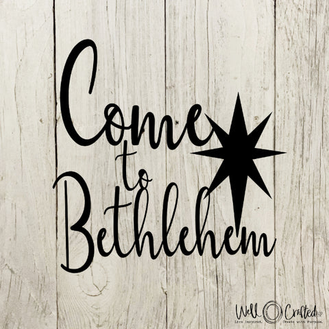 Come to Bethlehem Digital Design