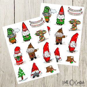 Gnome Holiday Stickers
