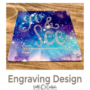 Go and See Engraving Design