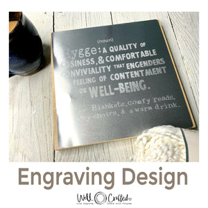 Hygge Definition Engraving Design
