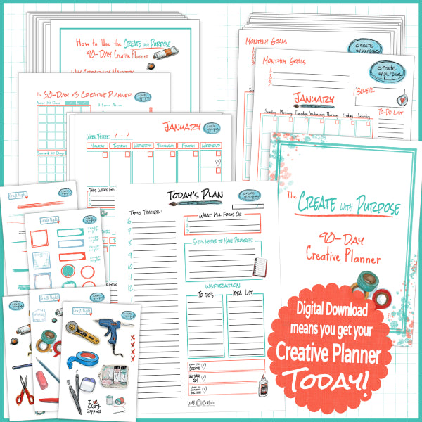 Create with Purpose 90-Day Creative Planner