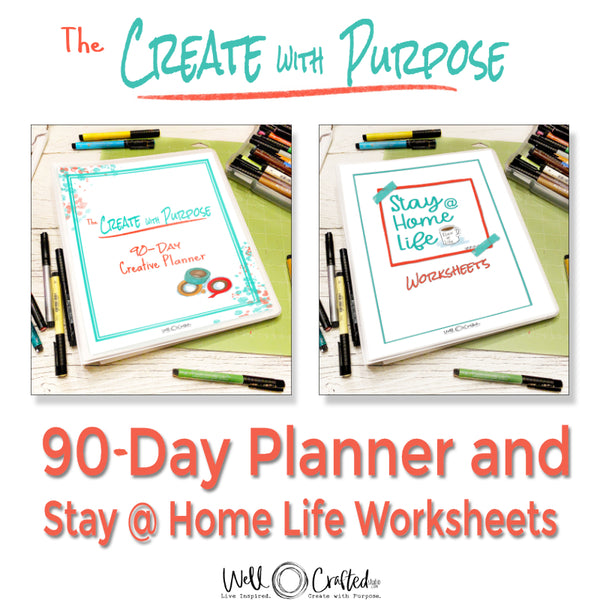Stay at Home Life Planner + Create with Purpose 90-Day Creative Planner Combo