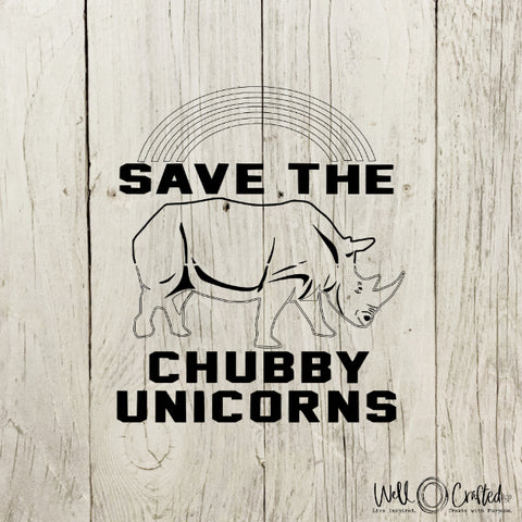 Save the Chubby Unicorns Digital Design