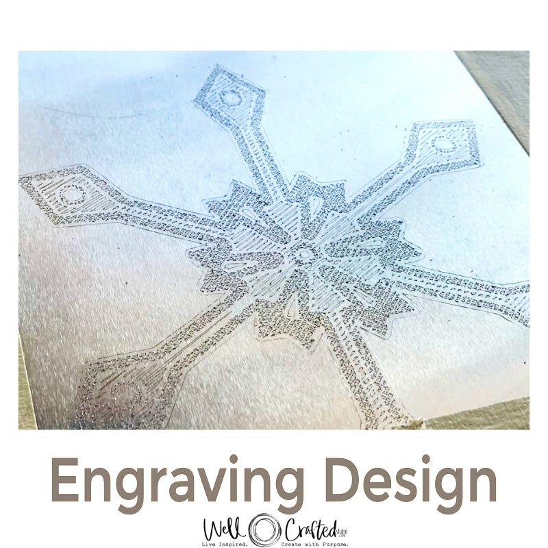 Snowflake Engraving Design