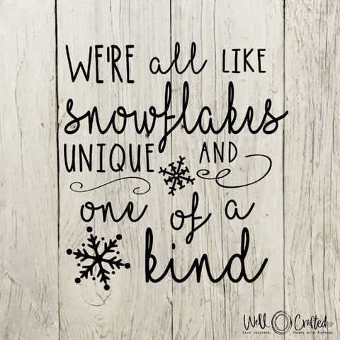 All Like Snowflakes Digital Design