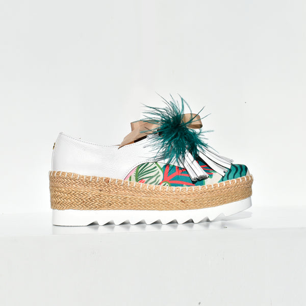 Tropical Print Espadrille