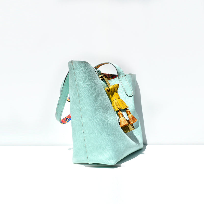 Reversible Tropical Print Bag