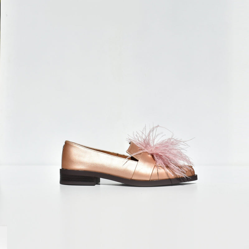 Rosegold feather flats