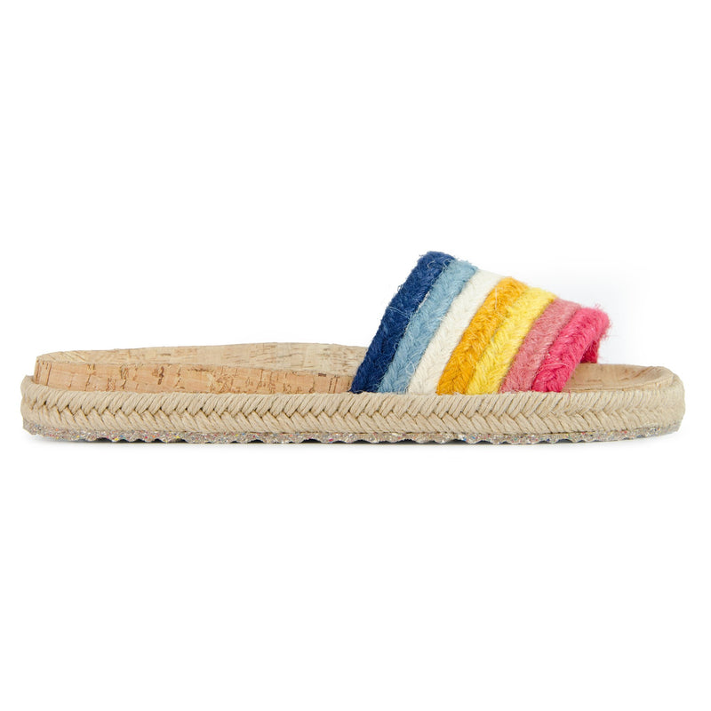 Multicolor Jute Mildness Slide Sandals