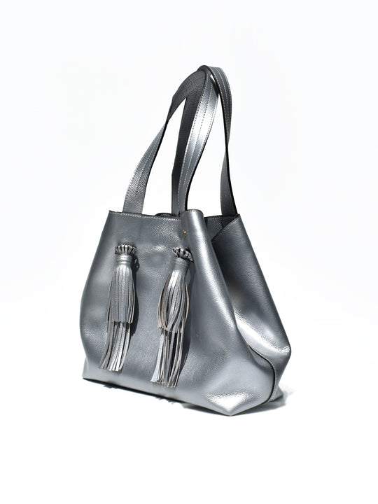 Fringe Handle Tote Bag