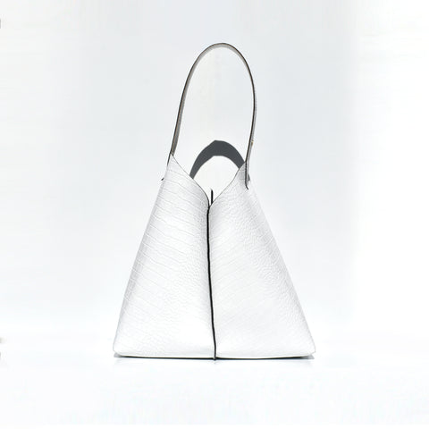 Croc Embossed Triangle Tote Bag