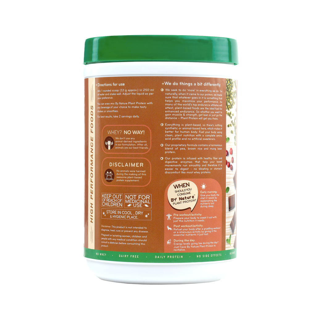 By Nature Plant Protein (Rich Chocolate) - Back Cover