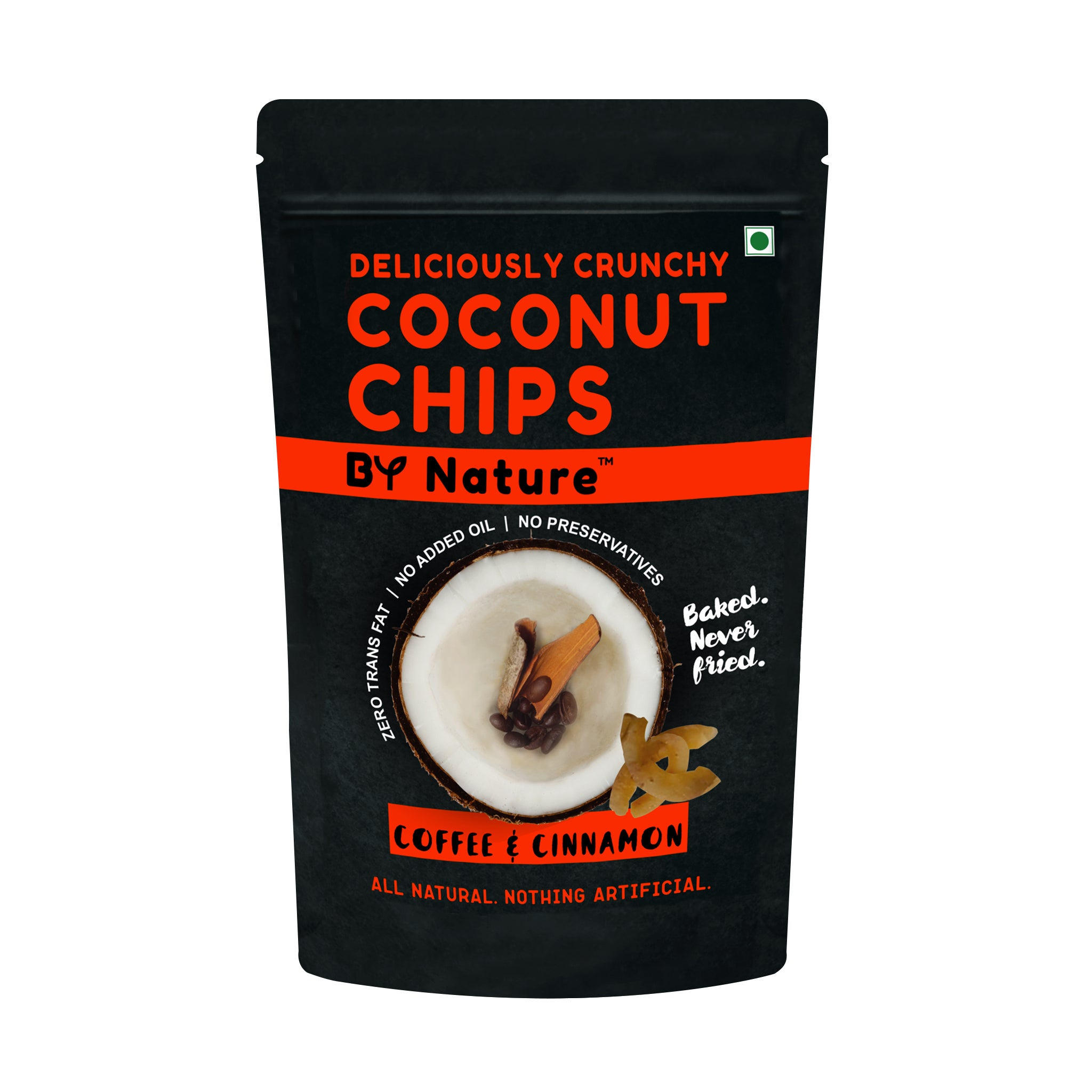 By Nature Baked Coconut Chips, 40 gm - Coffee & Cinnamon