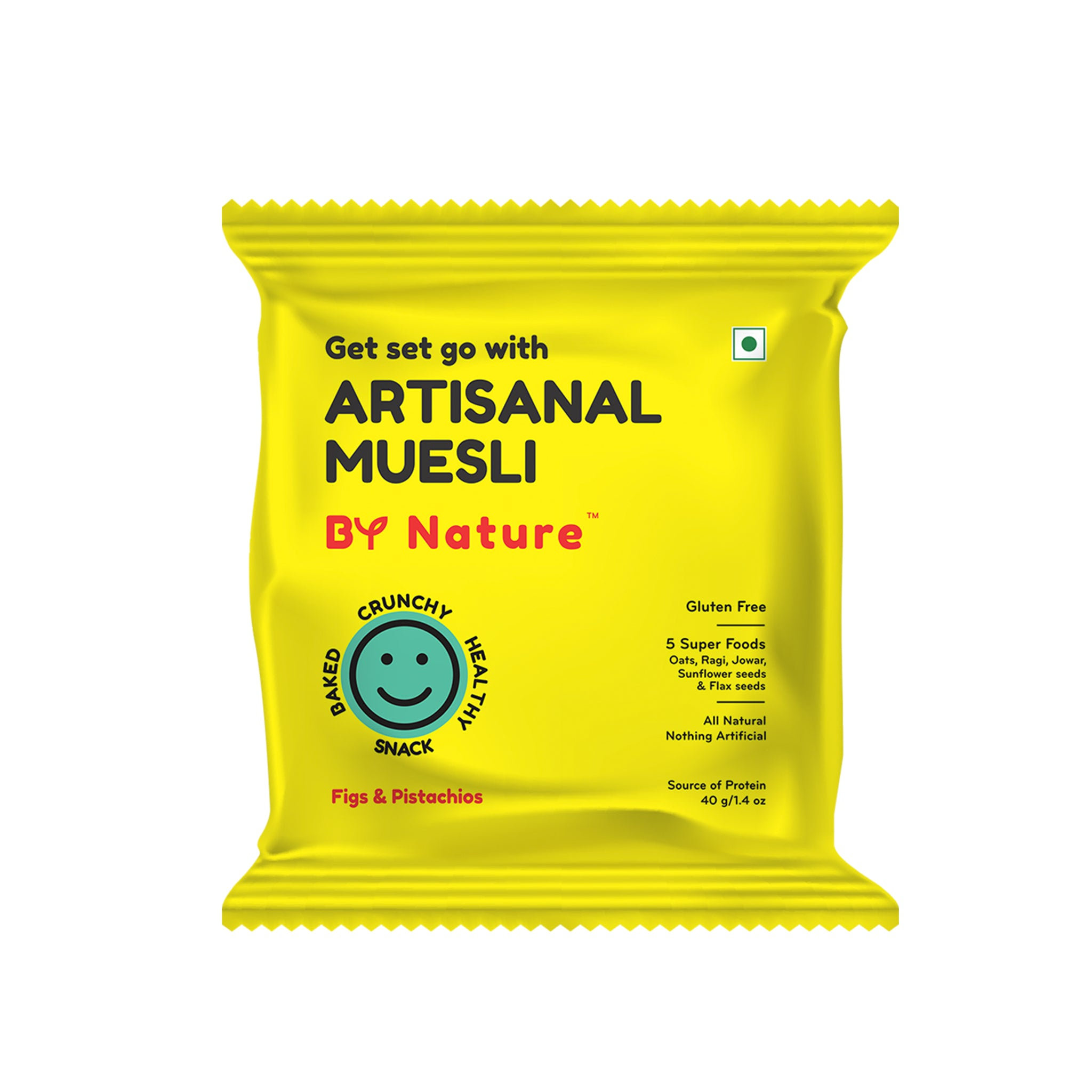 By Nature Artisanal Muesli - Figs and Pistachios with Honey, 40 gm