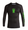 MOSKOVA TRAINING RASHGUARD BLACK/GREEN(ラッシュガード)