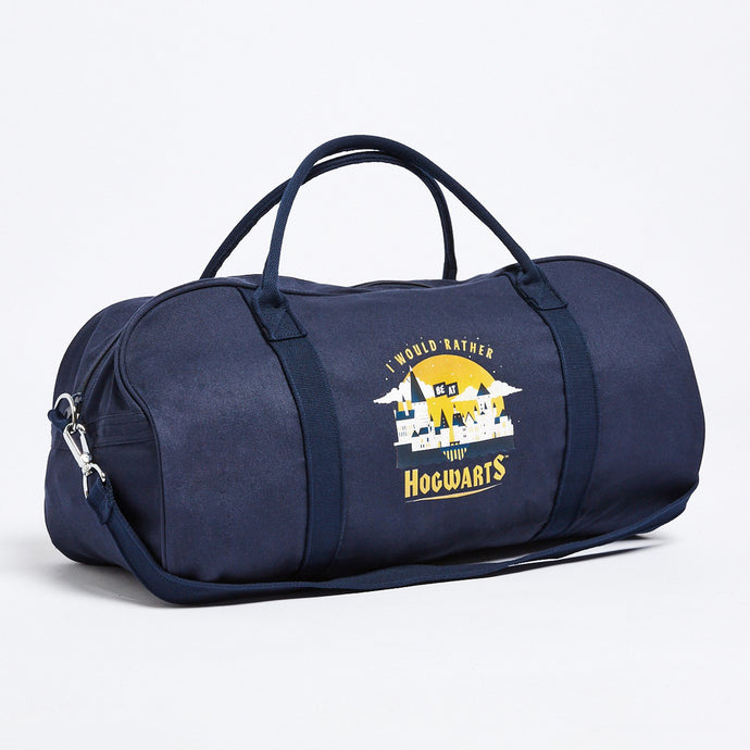 Navy Hogwarts Overnight Tote Bag