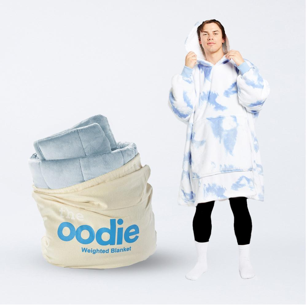 Oodie Blue Weighted Blanket Bundle