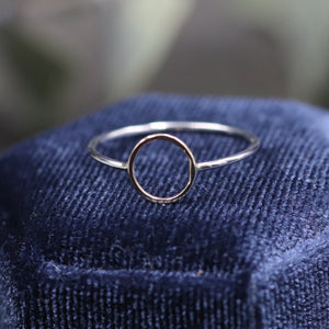 Dainty 10k gold circle  ring- Size 6.5