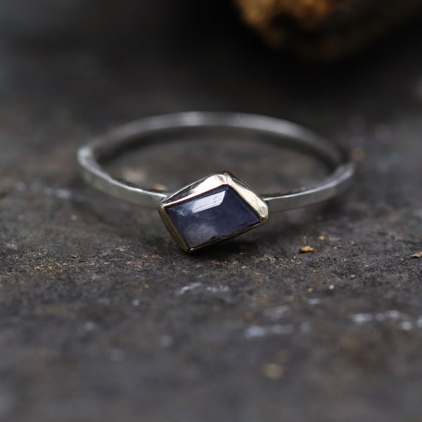 Sapphire stacking ring -Size 8.25