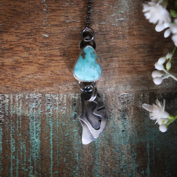Ginkgo Turquoise Necklace