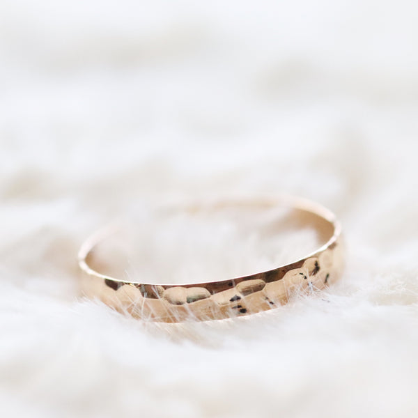 MADE TO ORDER- hammered stacking band