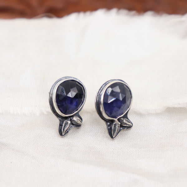 Iolite Stud Earrings - Winter's Night Collection
