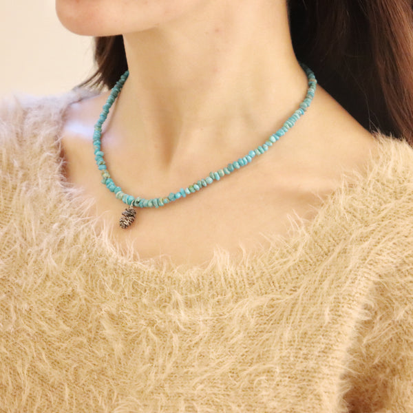 Turquoise Mountain Pinecone necklace