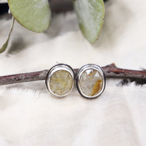 Ritualized Quartz Stud Earrings