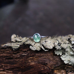 Emerald Stacking ring- Size 5.5