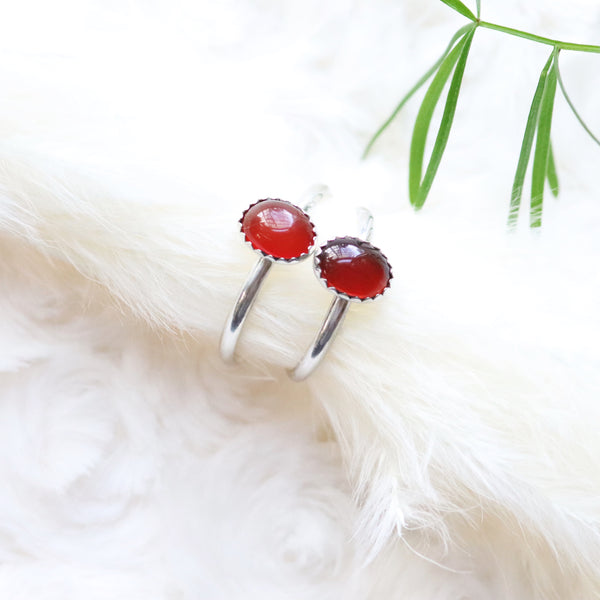 Gemstone stacking rings- Size 3.5-10
